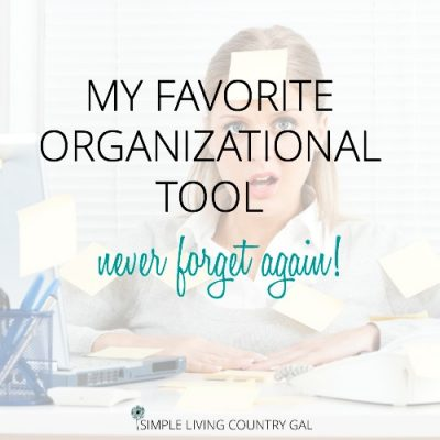 my favorite organizational tool to get more done and forget less