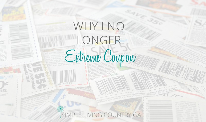 Why I No Longer Extreme Coupon