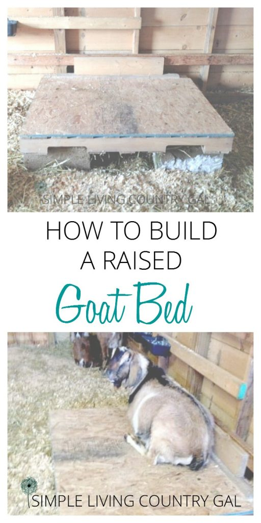 how to build a goat bed