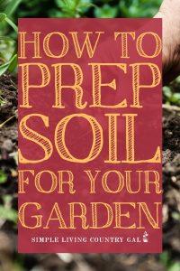 garden soil prep