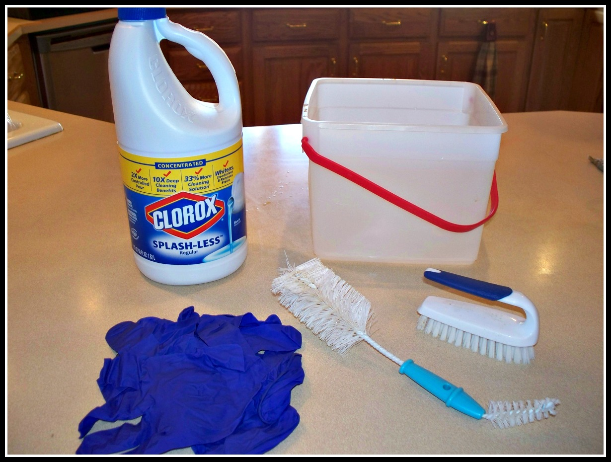 cleaning supplies used to disinfect seed planters