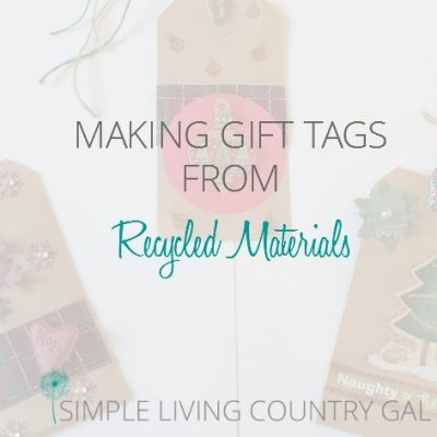 Don't throw out those holiday cards and ribbons, it is amazing what you can use to create adorable gift tags!
