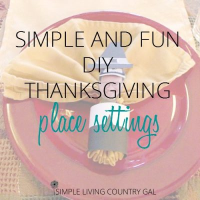 DIY Thanksgiving place setting
