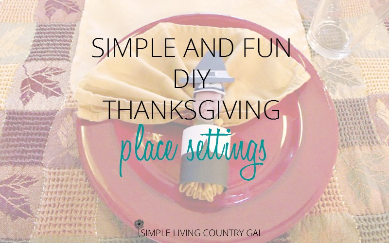 Fun And Easy DIY Thanksgiving Place Settings