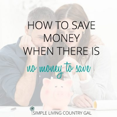 couple putting money into a piggy bank. How to save money when you have no money to save