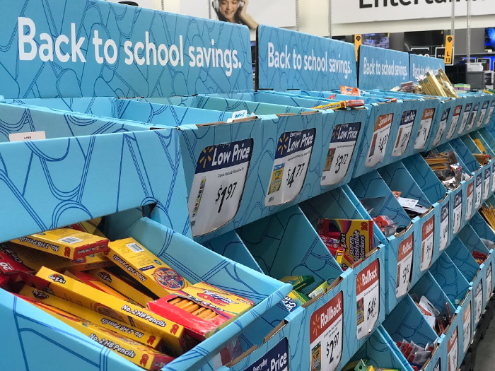 shop school supplies on sale to make Christmas Time easier on the budget