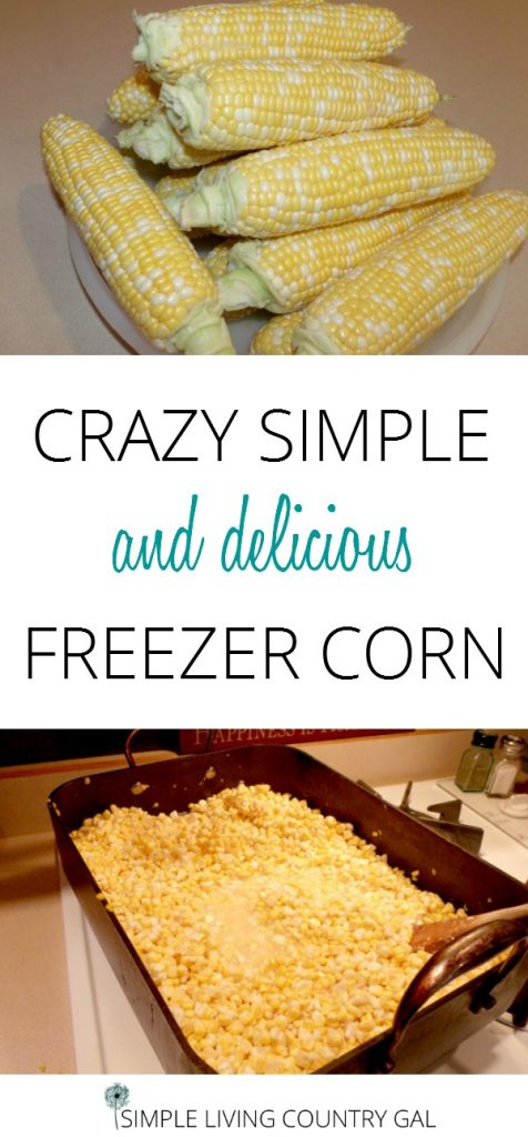 Freezing corn is super easy and yummy to. Take the time to fill your freezer with this yummy recipe you can enjoy all winter long. Fill your pantry with this delicious corn today. #canning #freezingcorn #gardening