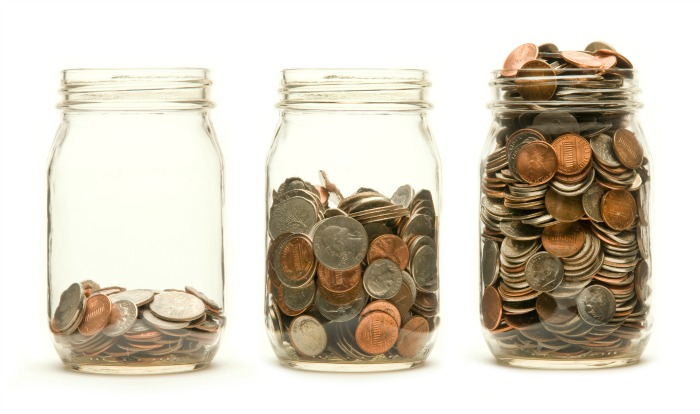 jars of change. How to afford to eat out on a tight budget