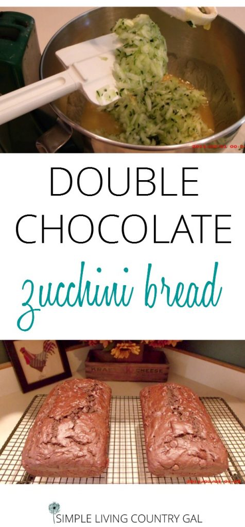 If you like chocolate, well you are going to love this bread, tastes just like a super moist brownie...no lie! Double Chocolate Zucchini Bread. Use up that garden surplus and fill your freezer for a treat year round. Another great option for all those zucchinis. #foodpreservation #zucchinibread #freezerbread