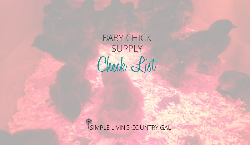 Baby Chick Supply List