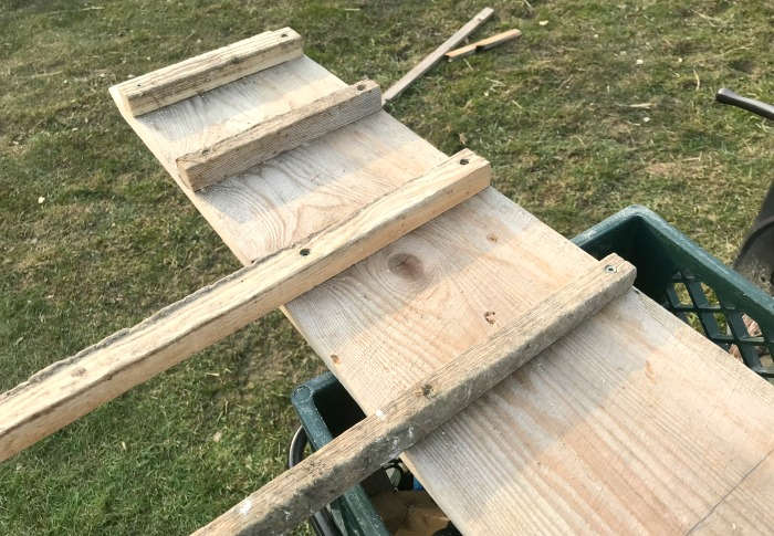 building a chicken ladder for our new chicken roost