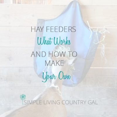 There are so many options out there for hay feeders for your livestock. This is a list of what I have tried and what works best.