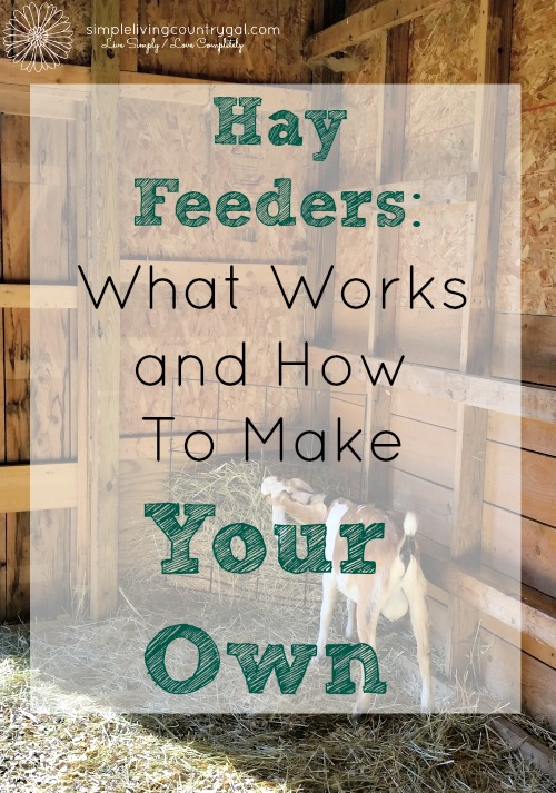 There are so many options out there for hay feeders for your livestock. This is a list of what I have tried and what works best. DIY goat hay feeders.