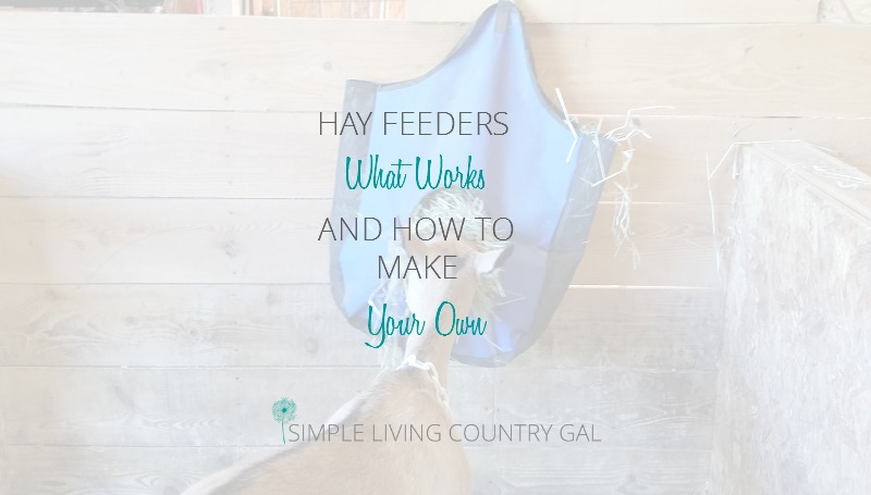 Hay Feeder Options For Goats