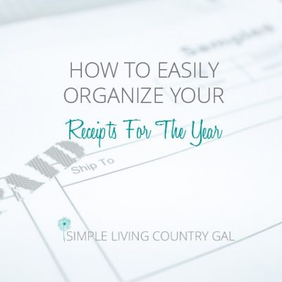 A very simple way to organize your receipts for the year.