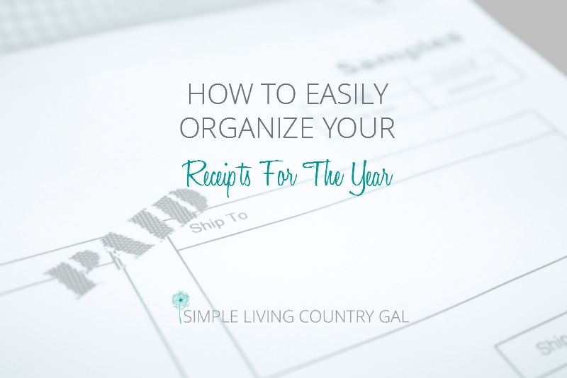 How To Organize Your Receipts For The Entire Year