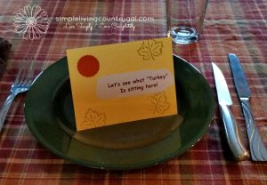 Handmade place settings for your thanksgiving dinner