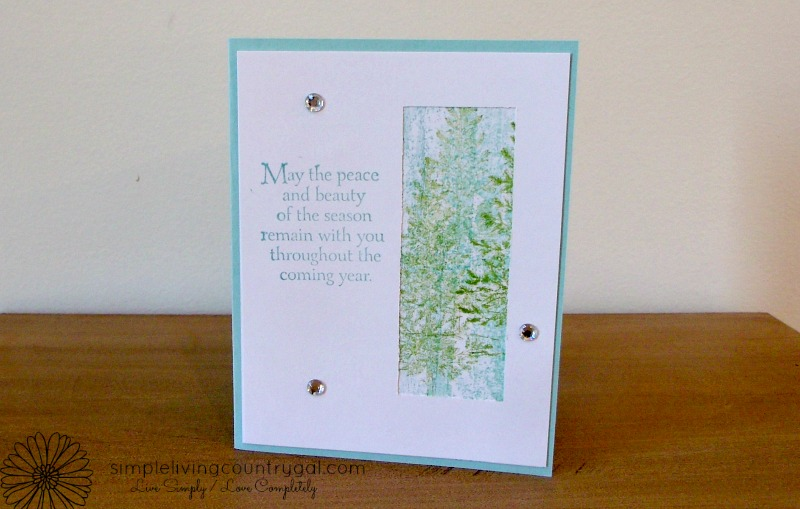 Handmade cards using paper and stamps from Stampin' Up. So easy and fun to put a personal touch on your holiday cards.