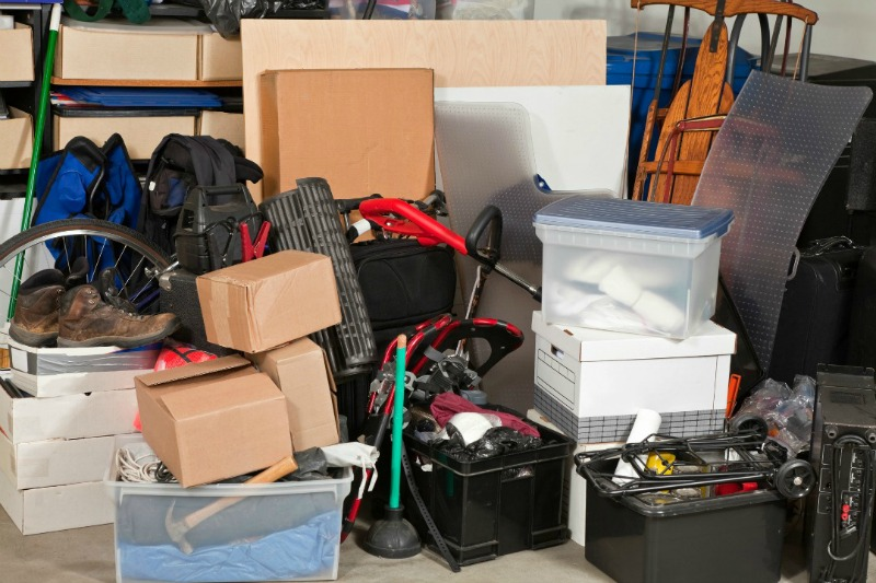 cluttered garage. Organizing solutions that work