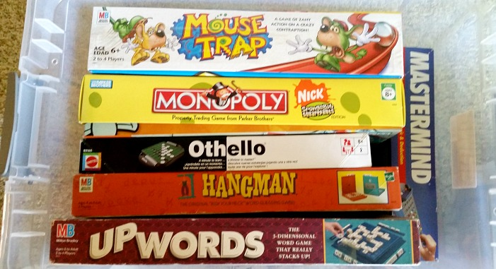 organized games in a tote