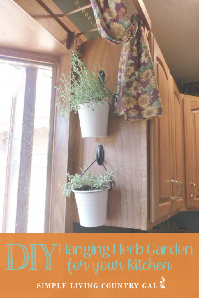 Do you love to garden but don't have space or time? Now you can have a fresh supply of herbs right in your kitchen. A step by step DIY herb garden that you can create today. #herbgarden #gardendiy #gardening #diygarden