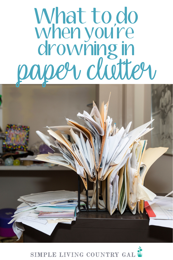 There is nothing more frustrating than paper clutter. Unless you have a system set into place it just keeps coming and coming. Use these tips to stop paper and set up a routine you can live with. #paperclutter #organizepapers #papers