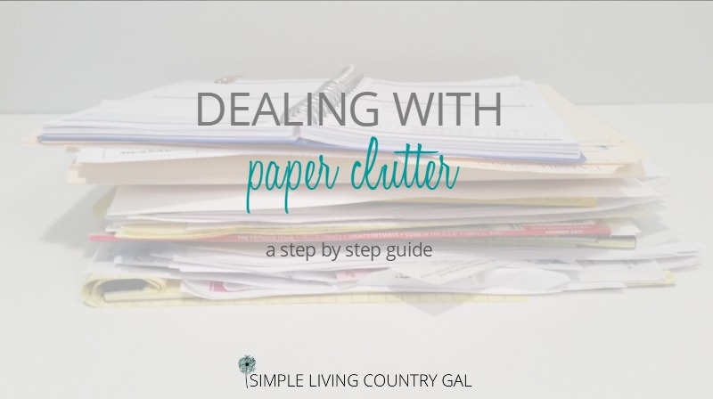 What to do if you are Drowning in Paper Clutter
