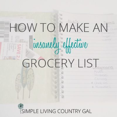 Follow these super simple tips and learn how to make an effective grocery list that will not only save you time but loads of money too.