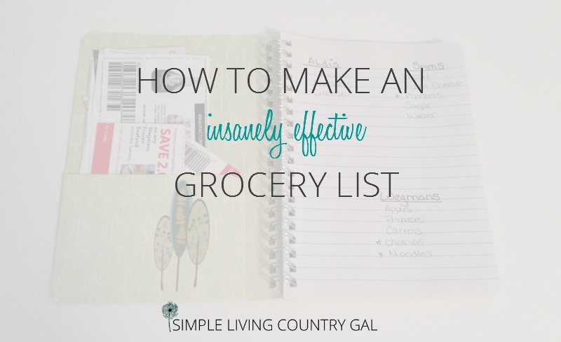 How To Make An Insanely Effective Grocery List