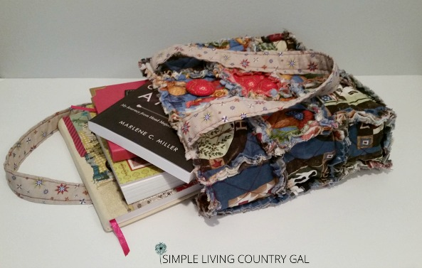 a reading bag is a great way to organize paper clutter