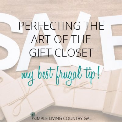 follow these tips on how to fill, organize and use a gift closet to save thousands every year!