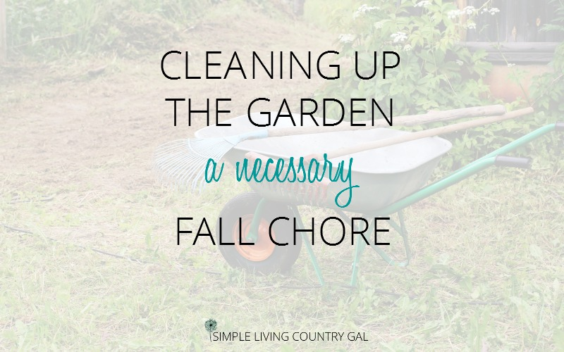 Cleaning Up The Garden.