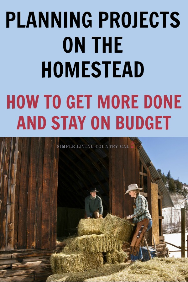 Do you have too many projects and not enough time or money? Follow this system and get more done without breaking your budget! Save time and money by planning ahead. No more stress of too much to do or panic that you might go into debt just for a project. By having a schedule even on the homestead you will get more done in less time. #homestead #homesteading #goats #chickens #gardening
