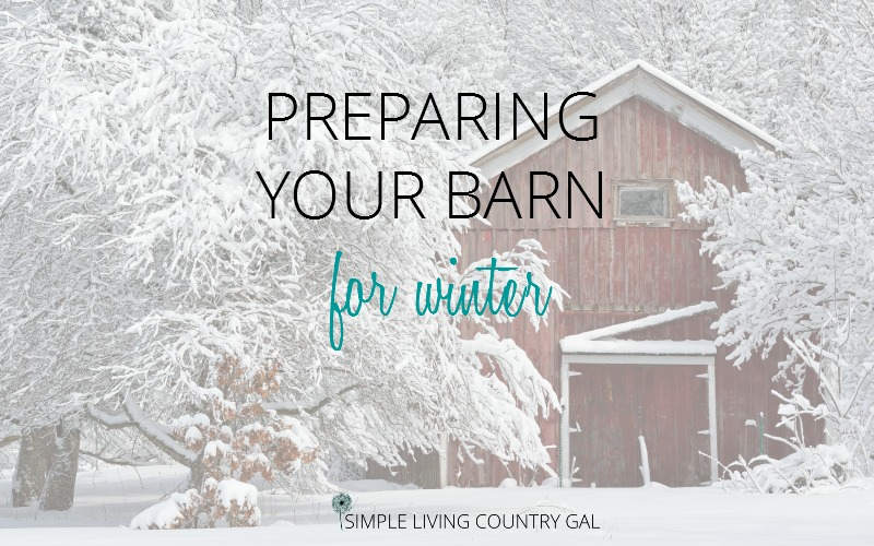preparing your barn cleaning for winter