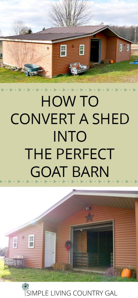 DIY goat barn