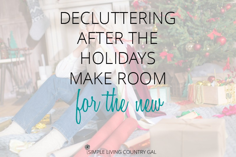 decluttering your home after the holidays can be so overwhelming. Here are my top tips for making room for the new.