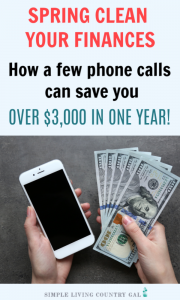 Learn how to save thousands in 6 easy steps! Follow the steps I took to spring clean your finances to help lower my bills every month and give our family the financial turnaround we needed. Budgeting tips for beginners that will save you big all with just a phone call. #budget #savemoney #financialturnaround