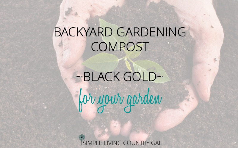 Backyard Gardening Compost – Black Gold For Your Garden