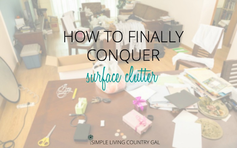 counter clutter. how to conquer surface clutter