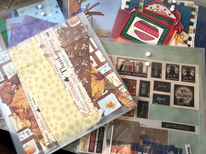 craft paper in envelopes. Craft room organization