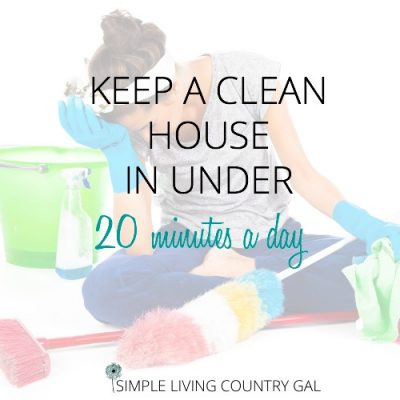 Woman frustrated from cleaning. How to keep a clean house in under 20 minutes a day.