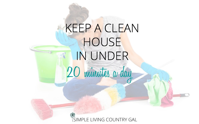 Keep A Clean House In Under 20 Minutes A Day