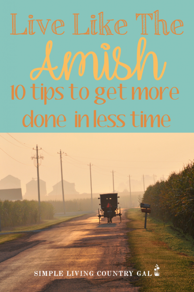 Learn how to get more done in a fraction of the time just by being focused and present. Simple living is a great way to live each day. An Amish lifestyle can do more than inspire, it can motivate and allow us to get more done quickly so we can do what we love. #productivity #amish #simpleliving