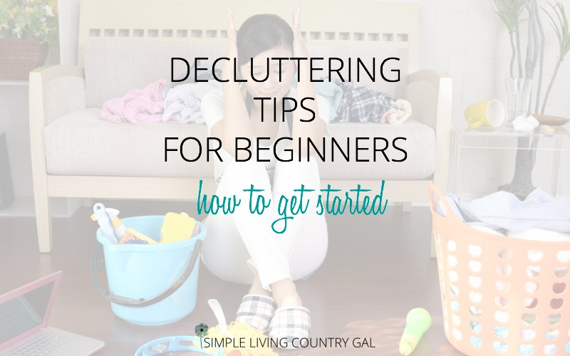 decluttering for beginners