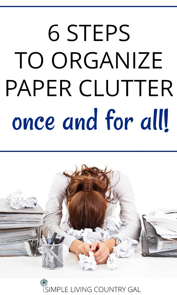 How to organize paper clutter once and for all.