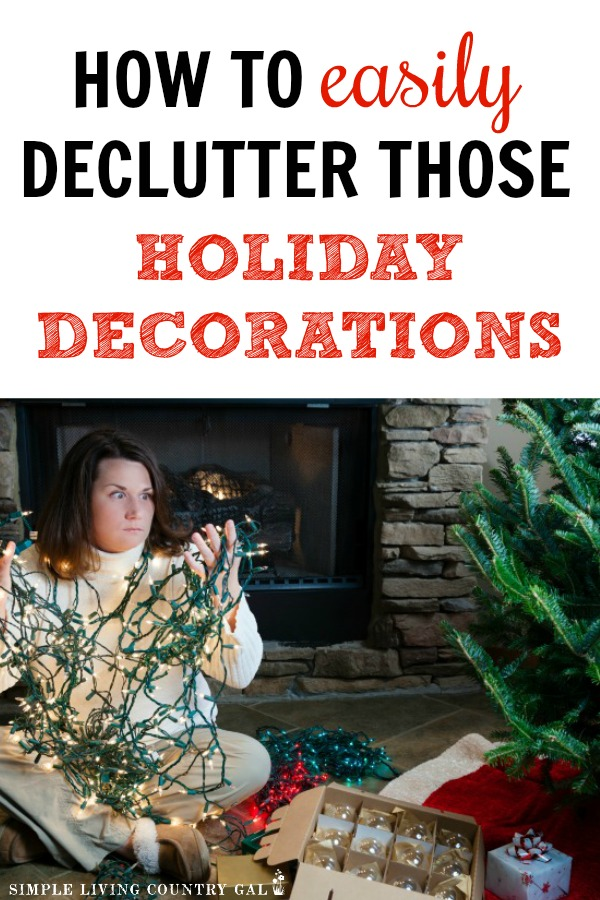 how to easily declutter and organize holiday decorations