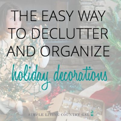 how to declutter holiday decorations