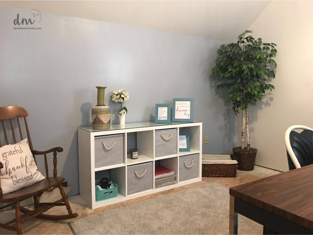 a decluttering room