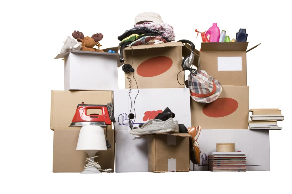 donation boxes. How to declutter your entire home in just minutes a day