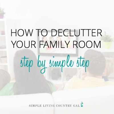 learn tips on how to declutter your family room this weekend